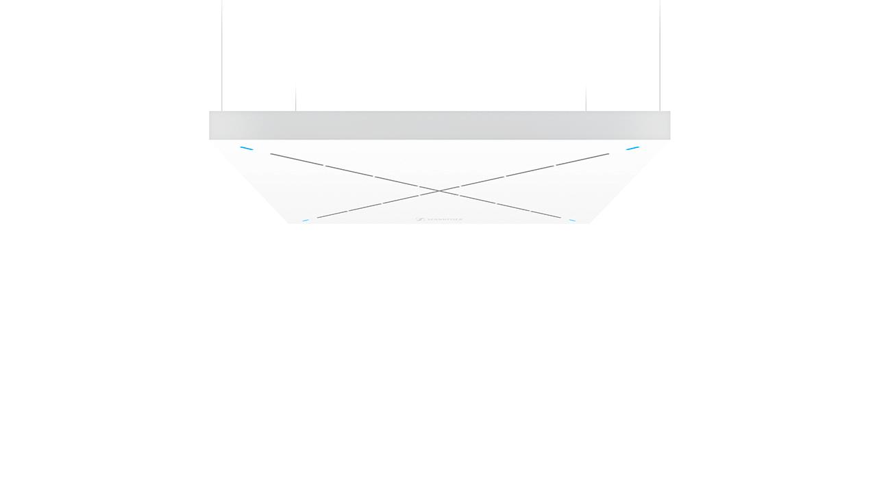Side-on image representing the Sennheiser Team Connect Ceiling Tile 2