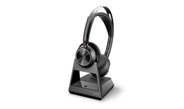 Shop the Poly VOYAGER FOCUS 2 OFFICE Headset on charging stand Headset