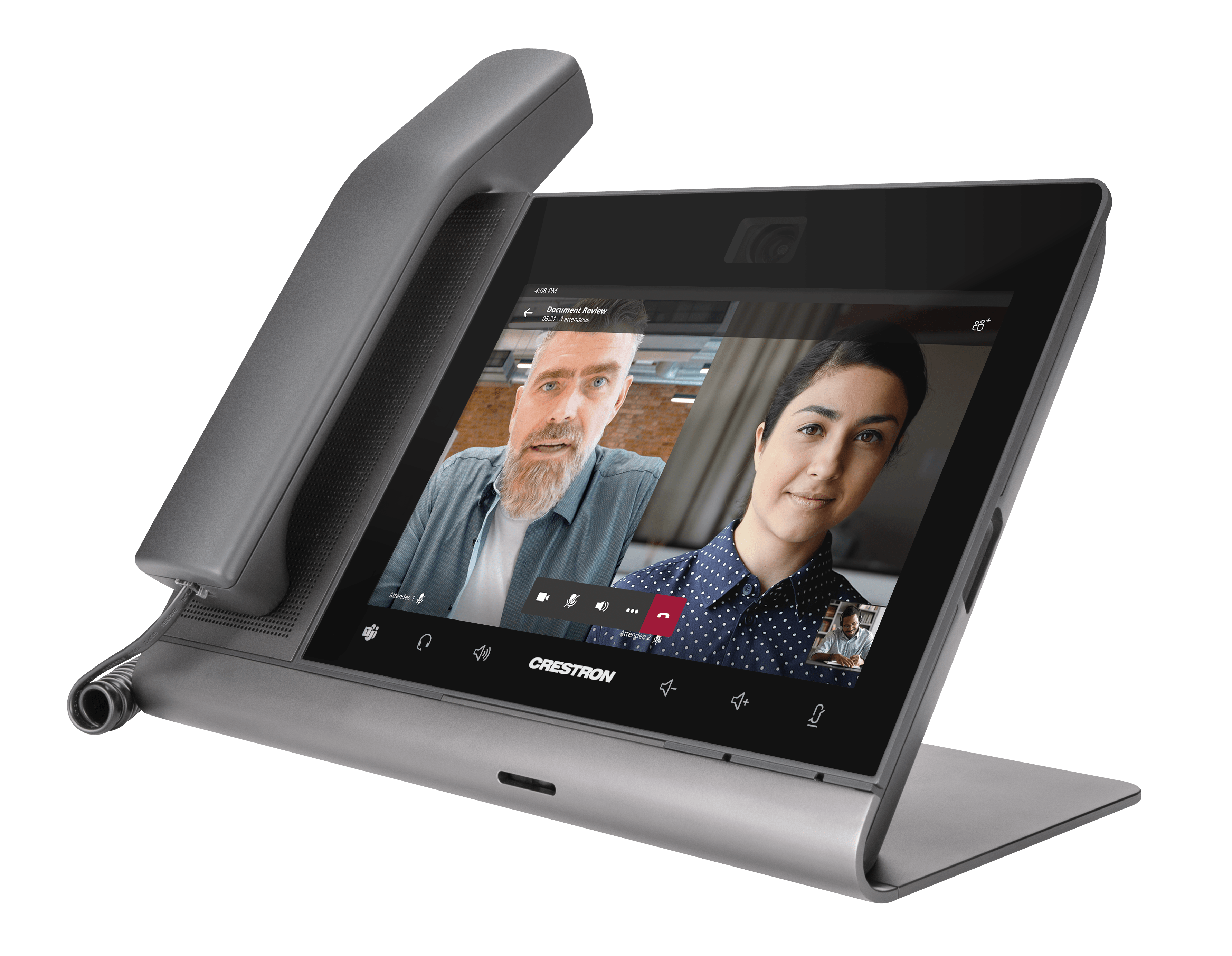 Flex 8 inch video desk phone with handset for Teams