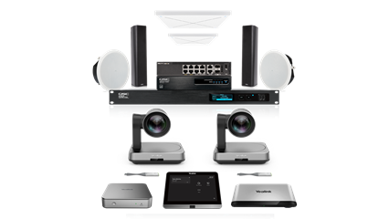 Shop the Yealink - MVC 940 with QSC and Sennheiser audio Teams Room